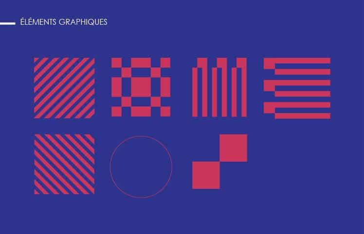 Affiche Forum digital éléments graphiques