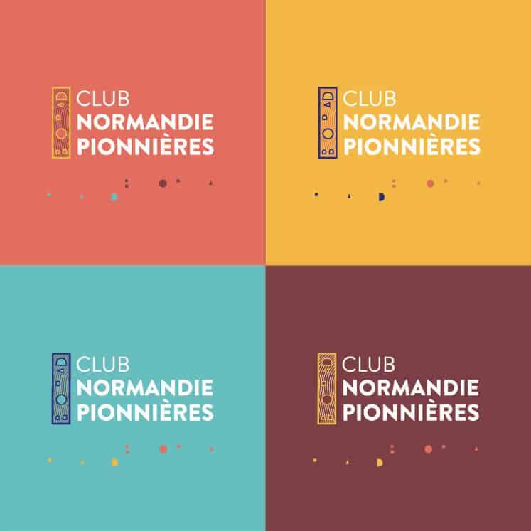Club normandie pionnières - variantes du logo