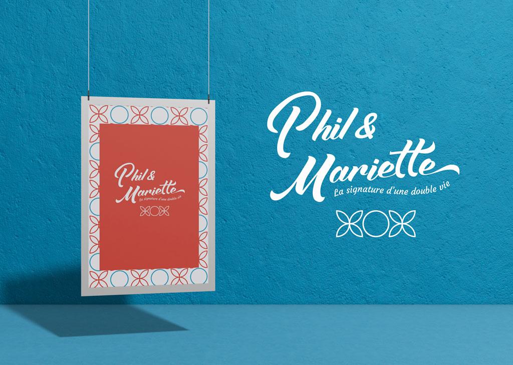 Phil et Mariette Affiche