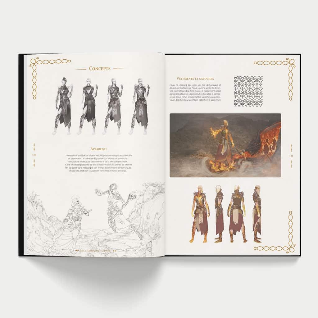 Pages intérieurs de l'artbook du jeu Malkyrs