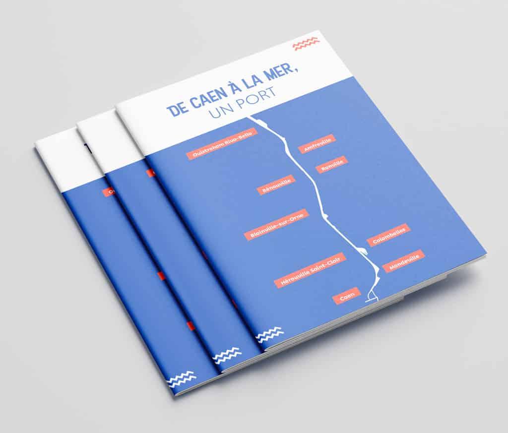 """Plaquette ADPCO """"De Caen à la mer, un port"""" - couverture"""